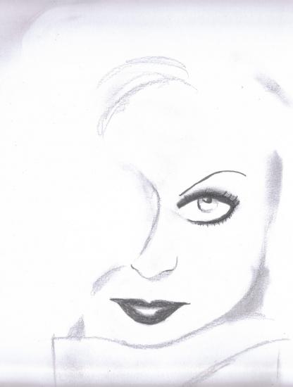 Carole Lombard by Leena